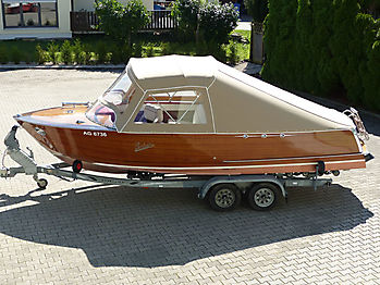 Verdeck Portier Holzboot Bootsverdeck 01