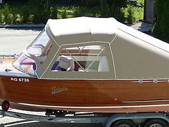 Verdeck Portier Holzboot Bootsverdeck 02