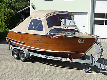 Verdeck Portier Holzboot Bootsverdeck 12