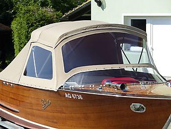 Verdeck Portier Holzboot Bootsverdeck 13