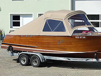 Verdeck Portier Holzboot Bootsverdeck 15