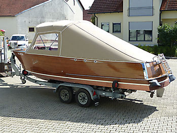 Verdeck Portier Holzboot Bootsverdeck 18