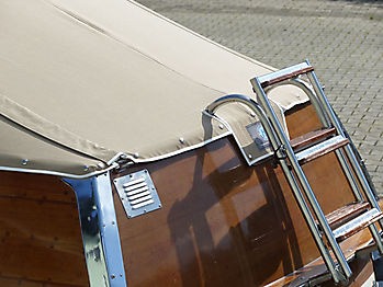 Verdeck Portier Holzboot Bootsverdeck 19