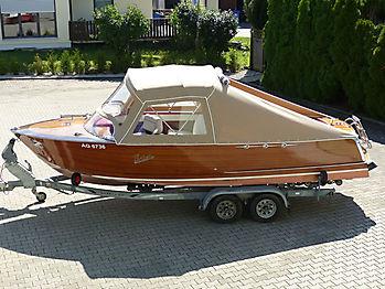 Verdeck Portier Holzboot Bootsverdeck 20