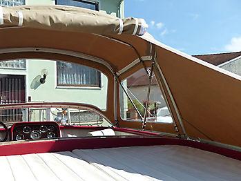 Verdeck Portier Holzboot Bootsverdeck 22