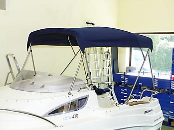 Verdeck Quicksilver activ 430 cabin Bootsverdeck Persenning 12