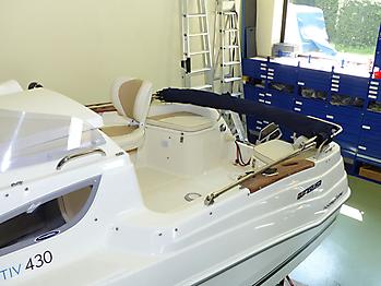 Verdeck Quicksilver activ 430 cabin Bootsverdeck Persenning 19