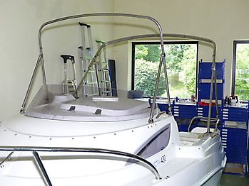 Verdeck Quicksilver activ 430 cabin Bootsverdeck Persenning 21
