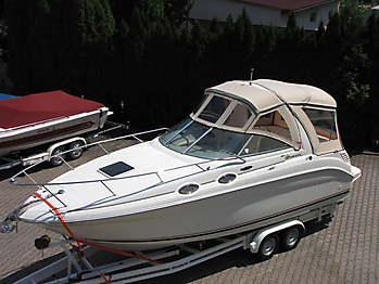 Verdeck Sea Ray 260 Sundancer Persenning  04