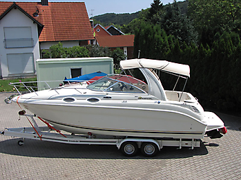 Verdeck Sea Ray 260 Sundancer Persenning  11