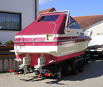 Verdeck Sea Ray 268 Sundancer Persenning 01