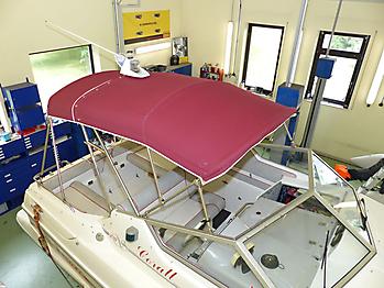 Verdeck Sealine 218 Bootsverdeck Persenning 14