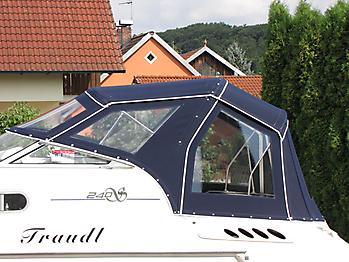 Verdeck Sealine S240 mit Bimini Bootsverdeck Persenning 04
