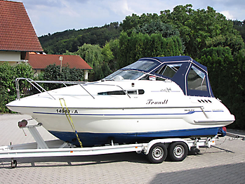 Verdeck Sealine S240 mit Bimini Bootsverdeck Persenning 05