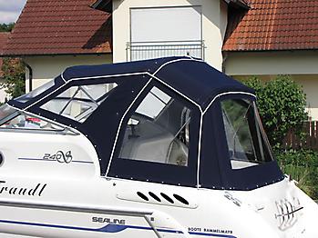Verdeck Sealine S240 mit Bimini Bootsverdeck Persenning 15