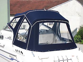 Verdeck Sealine S240 mit Bimini Bootsverdeck Persenning 16